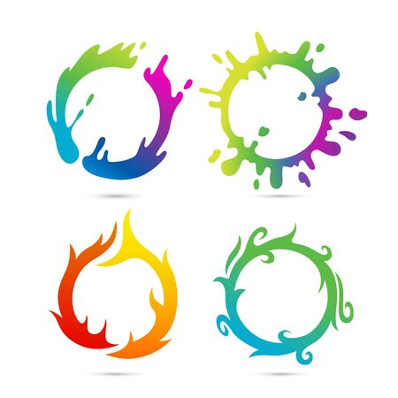 Water splash set. Suitable or symbol and web icons. Vector Illustration