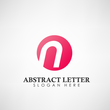 Abstract Letter N logotype. Suitable for trademarks, company logo, and other. Vector Illustration