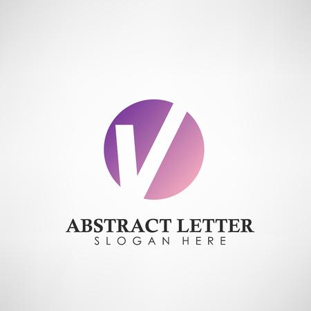 Logotipo abstracto de la letra V. Adecuado para marcas comerciales, logotipo de empresa y otros. Ilustración vectorial Logos