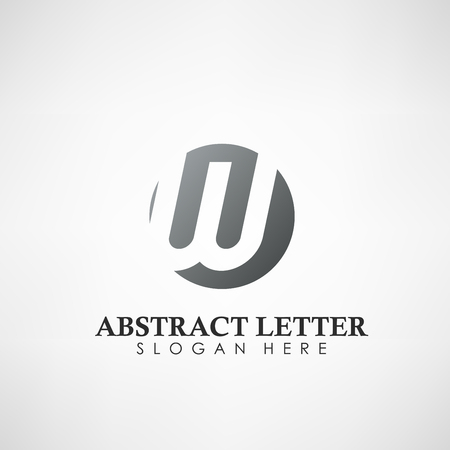 Abstract Letter W logotype. Suitable for trademarks, company logo, and other. Vector Illustration