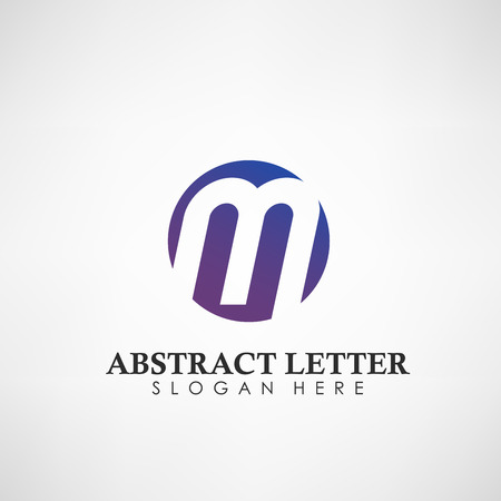 Abstract Letter M logotype. Suitable for trademarks, company logo, and other. Vector Illustration