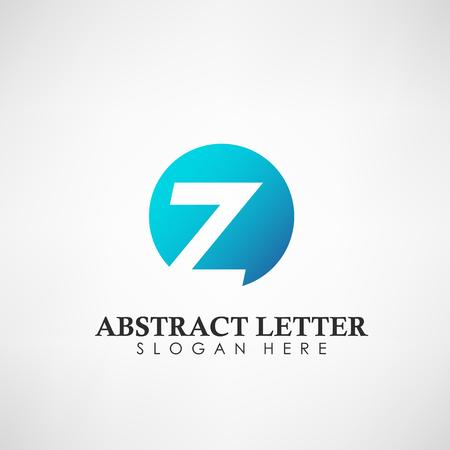 Logotipo abstracto de la letra Z. Adecuado para marcas comerciales, logotipo de empresa y otros. Ilustración vectorial