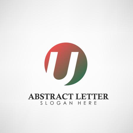 Logotipo abstracto de la letra U. Adecuado para marcas comerciales, logotipo de empresa y otros. Ilustración vectorial