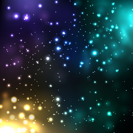 Abstract sparkling colorful light effects. Suitable for product advertising, product design, and other