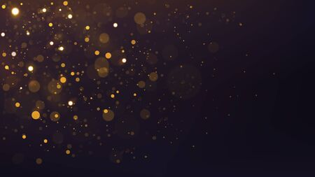 Abstract Gold Bokeh Scattered, Widescreen Version. Vector Illustration 版權商用圖片 - 145942187