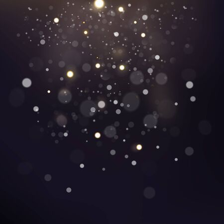 Abstract Bokeh Scattered. Vector Illustration