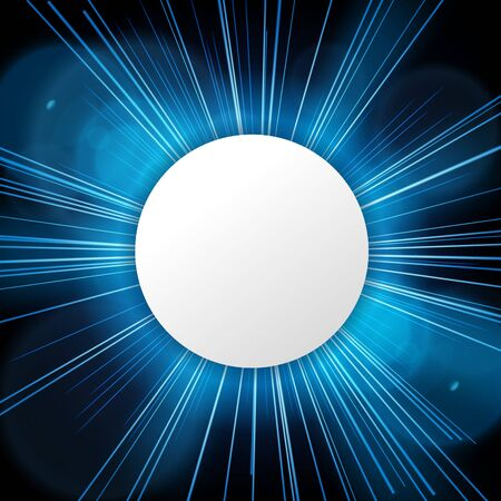 Round sign with text space on blue light, Suitable for advertising, and other. Vector Illustration 向量圖像