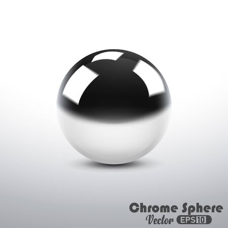 Metallic Reflective Chrome Sphere 向量圖像