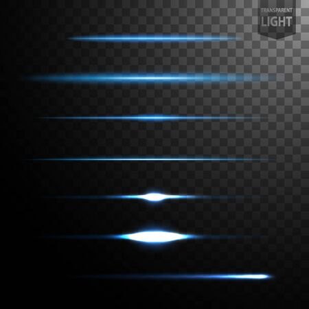 Abstract blue light lines isolated on transparent background, easily transferred to your project. Vector Illustration 向量圖像