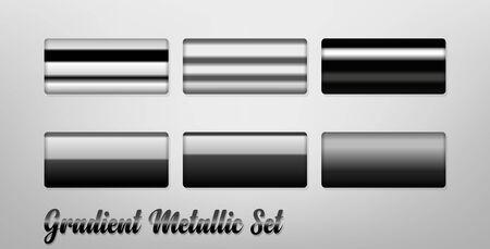 Gradient Metallic Color Set, Easy to copy. Vector Illustration 版權商用圖片 - 145942332