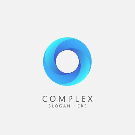Complex Business Logo Concept. Teamwork, Social, or Community Symbol. Vector Illustration