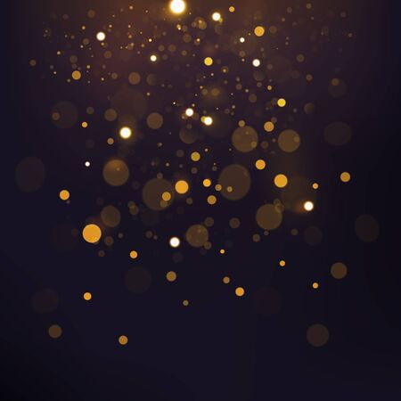 Abstract Gold Bokeh Scattered. Vector Illustration 向量圖像