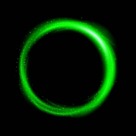 Round green light twisted, Suitable for product advertising, product design, and other.