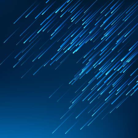 Fallen blue lines on dark blue background. Vector Illustration 向量圖像