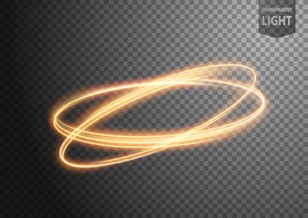 Abstract gold wavy line of light with a transparent background, isolated and easy to edit. Vector Illustration 版權商用圖片 - 150728361