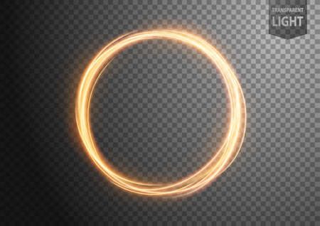 Abstract gold wavy line of light with a transparent background, isolated and easy to edit. Vector Illustration 版權商用圖片 - 150728369