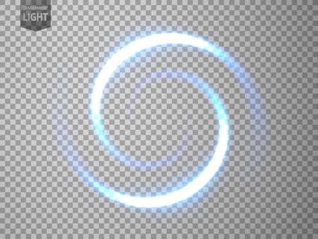 Blue light twisted. isolated on transparent background. Vector Illustration 版權商用圖片 - 150728391