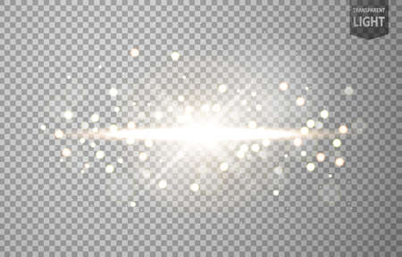 Abstract sun shines with lens flare and blur in motion glow glare. isolated on transparent background. Vector Illustration 版權商用圖片 - 150728392