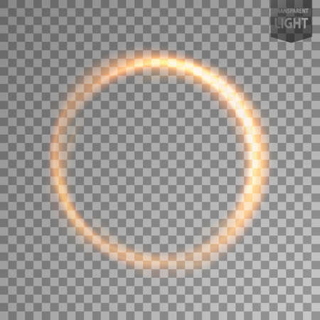 Rotating gold light. isolated on transparent background. Vector Illustration 向量圖像