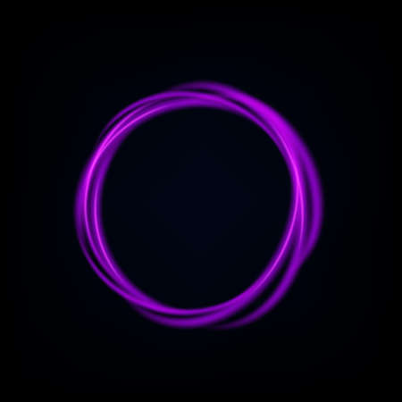 Round violet light twisted, Suitable for product advertising, product design, and other. Vector Illustration