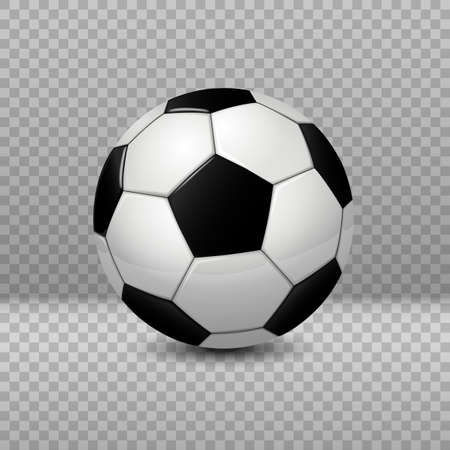 Detailed Soccer Ball isolated on transparent background. Vector Illustration 向量圖像