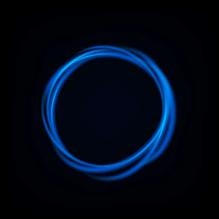Round blue light twisted, Suitable for product advertising, product design, and other. Vector Illustration 向量圖像