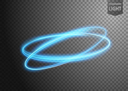 Abstract blue wind line of light with a transparent background, isolated and easy to edit. Vector Illustration