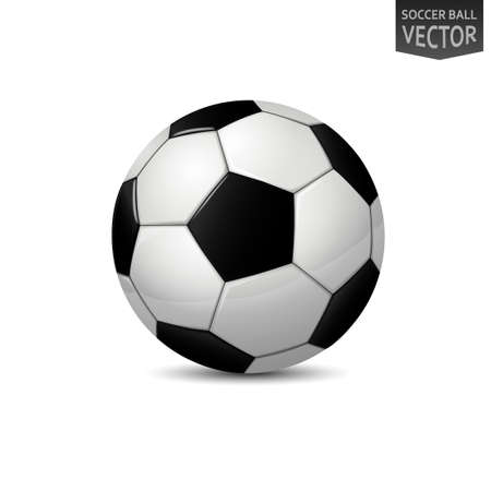 Detailed Soccer Ball isolated on white background. Vector Illustration 向量圖像