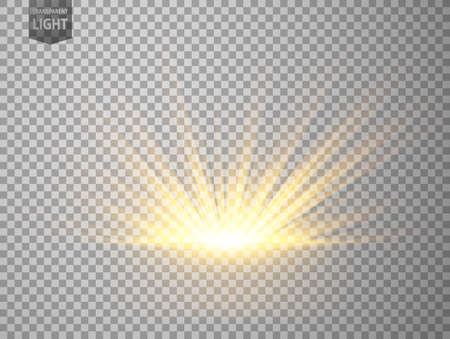 Abstract Gold Rays rising. isolated on transparent background. Vector Illustration 版權商用圖片 - 150728434