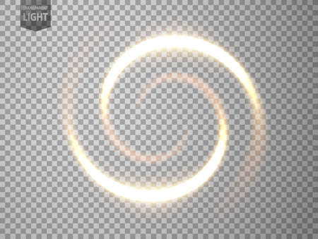 Gold light twisted. isolated on transparent background. Vector Illustration 版權商用圖片 - 150728448