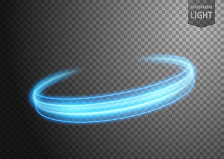 Abstract blue wind line of light with a transparent background, isolated and easy to edit. Vector Illustration 版權商用圖片 - 150728449