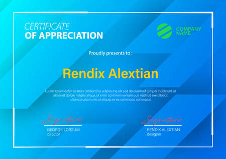 Certificate of Appreciation template. Vector Illustration
