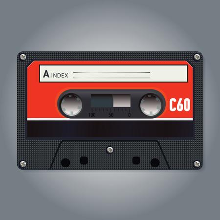 audiotape: Vector vintage audiotape
