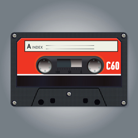 disuse: Vector vintage audiotape