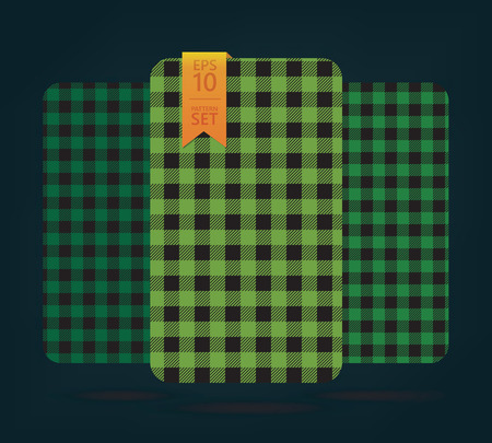 dark fiber: gingham Patterns and buffalo check plaid patterns. Modern pixel gingham patterns of different styles
