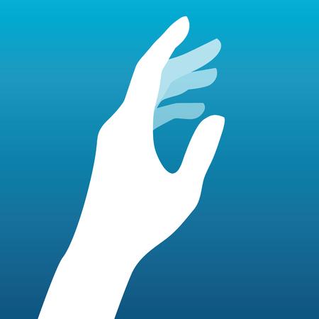 Lady hand silhouette vector  イラスト・ベクター素材