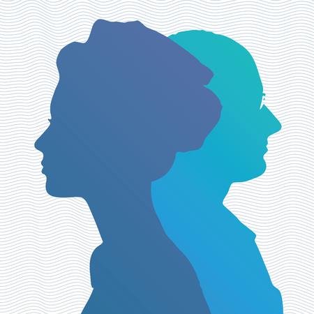 head profile: Silhouette of head, face in profile