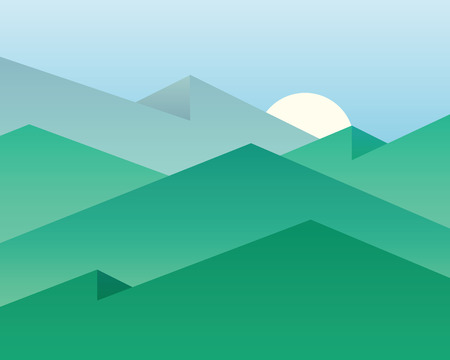 overlooking: Vector background with mountains