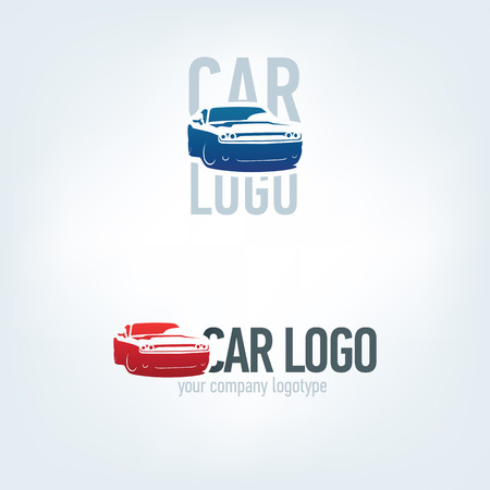 Car logotypes - car service and repair. Car logo. Illustration