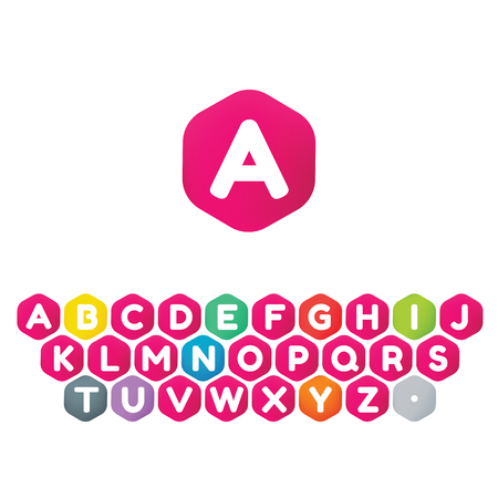 Cube icon font design template elements. 矢量图像