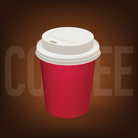 Coffee paper cup illustration. 矢量图像