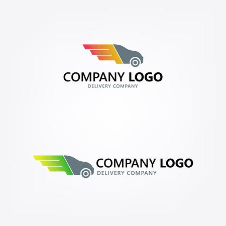 Delivery car illustration. 矢量图像