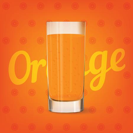 Vector image of fresh glass of orange juice