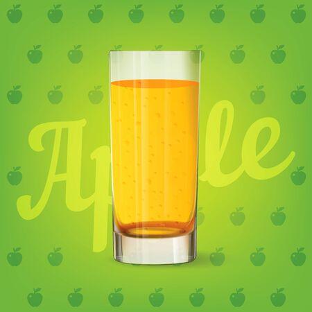 Vector image of fresh apple juice 矢量图像