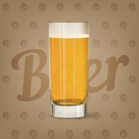 Vector image of fresh glass of beer 矢量图像