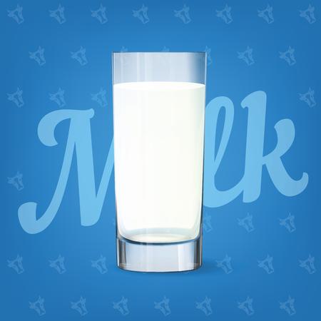 Vector image of fresh milk glass 矢量图像