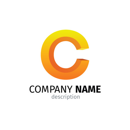 Letter C logo icon design template elements Illustration