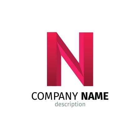 Letter N logo icon design template elements 矢量图像