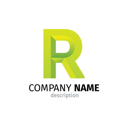 Letter R logo icon design template elements Ilustração