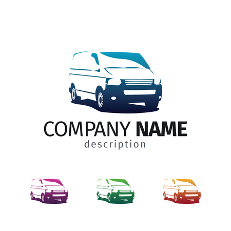 Car repair or delivery service label. Vector logo design template. Concept for automobile repair service, spare parts store.